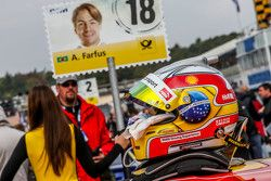 Le casque d'Augusto Farfus , BMW Team RBM BMW M4 DTM