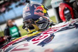 Le casque de Mattias Ekström, Audi Sport Team Abt Sportsline, Audi A5 DTM