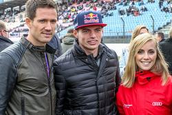 Sebastien Ogier, Julien Ingrassia, Volkswagen Motorsport; Max Verstappen, Scuderia Toro Rosso, mit Freundin Mikaela Ahlin-Kottulinsky