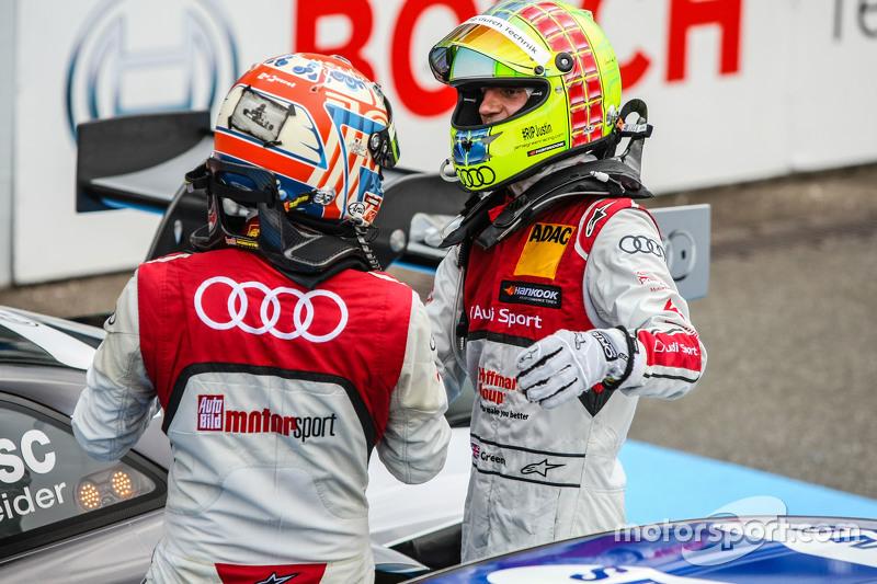 Победитель гонки - Тимо Шайдер, Audi Sport Team Phoenix Audi RS 5 DTM и второе место - Джейми Грин ,