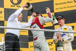 Podium : Jamie Green, le vainqueur Timo Scheider , Audi Sport Team Phoenix Audi RS 5 DTM et Maxime Martin , BMW Team RMG BMW M4 DTM