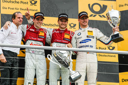 Подіум, Джеймі Грін, Winner, Тімо Шайдер , Audi Sport Team Phoenix Audi RS 5 DTM та Максім Мартін ,