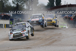 Petter Solberg, SDRX Citroën DS3 RX and Johan Kristoffersson, Volkswagen Team Sweden and Timur Timer