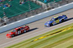 Landon Cassill, JD Motorsports Chevrolet and J.J. Yeley