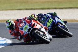 Andrea Iannone, Ducati Team et Valentino Rossi, Yamaha Factory Racing