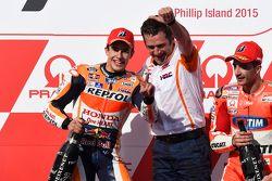 Podium : le vainqueur Marc Marquez, Repsol Honda Team, et Andrea Iannone, Ducati Team