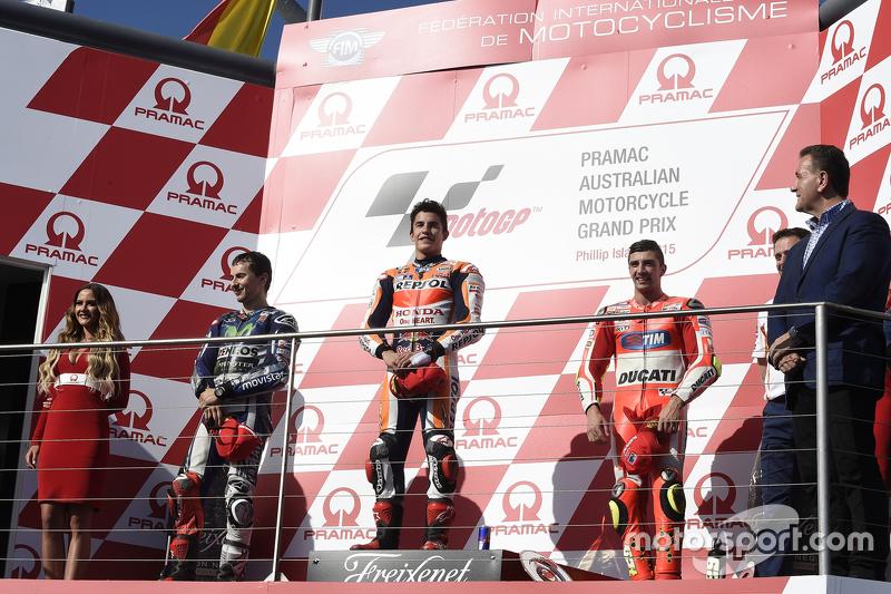 #24 Podium : Marc Márquez, Jorge Lorenzo, Andrea Iannone