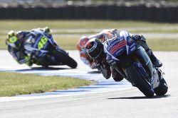 Jorge Lorenzo, Yamaha Factory Racing et Valentino Rossi, Yamaha Factory Racing