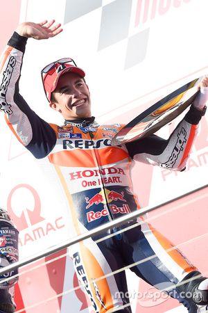 Podium : le vainqueur Marc Marquez, Repsol Honda Team