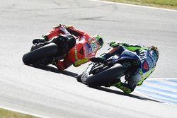 Andrea Iannone, Ducati Team et Valentino Rossi, Yamaha Factory Racing