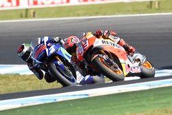 Marc Marquez, Repsol Honda Team et Jorge Lorenzo, Yamaha Factory Racing