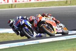 Marc Marquez, Repsol Honda Team and Jorge Lorenzo, Yamaha Factory Racing