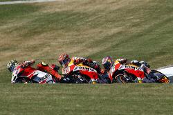 Andrea Iannone, Ducati Team, Marc Marquez, Repsol Honda Team, Dani Pedrosa, Repsol Honda Team