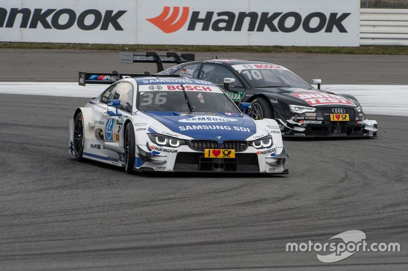 Maxime Martin, BMW RMG Takımı BMW M4 DTM; Timo Scheider, Audi Sport - Takım: Phoenix Audi RS 5 DTM