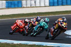 Brad Binder, Red Bull KTM Ajo, Danny Kent, Leopard Racing et Karel Hanika, Red Bull KTM Ajo