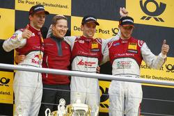 Подиум: победитель гонки - Джейми Грин, Audi Sport Team Rosberg, второе место - Маттиас Экстрем, Aud