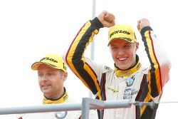 GTC podium: winners Andy Priaulx, Jesse Krohn, BMW Team Marc VDS