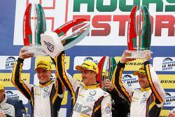 GTC podium: winners Andy Priaulx, Henry Hassid, Jesse Krohn, BMW Team Marc VDS