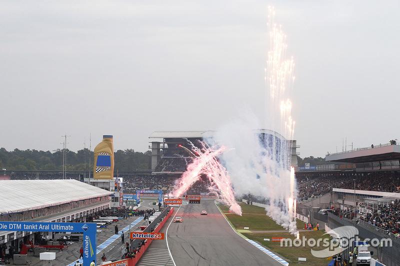 Mattias Ekström, Audi Sport Team Abt Sportsline, Audi A5 DTM takes the checkered flag