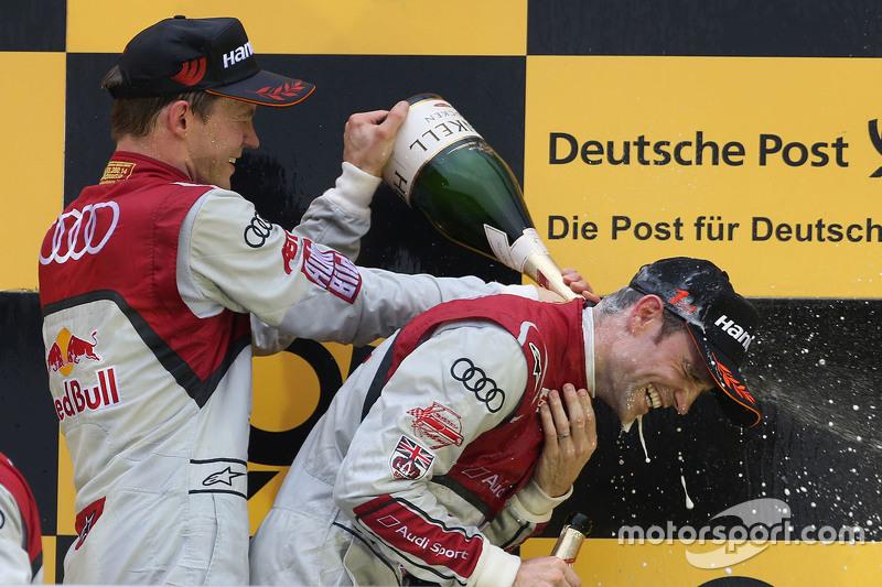 Подіум: переможець Джеймі Грін, Audi Sport Team Rosberg Audi RS 5 DTM, друге місце Маттіас Екстрьом