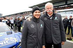 Gary Paffett, ART Grand Prix Mercedes-AMG C63 DTM avec le Dr. Dieter Zetsche