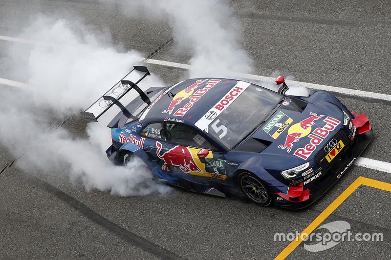 Second place Mattias Ekström, Audi Sport Team Abt Sportsline, Audi A5 DTM