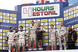 LMP3 podium: winners Michael Simpson, Gaëtan Paletou, Team LNT, second place Eric Trouillet, Garry Findlay, Thomas Accary, Graff Racing, third place Chris Hoy, Charlie Robertson, Team LNT