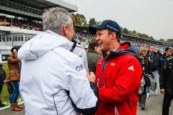 Jens Marquardt, Directeur de la Compétition chez BMW et Mattias Ekström, Audi Sport Team Abt Sportsline, Audi A5 DTM