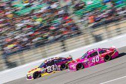 Matt Dibenedetto, BK Racing Toyota and Landon Cassill, Hillman Circle Sport LLC Chevrolet