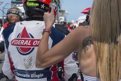 Xavier Simeon, Federal Oil Gresini Moto2 con la sua obrellina