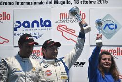 Walter Palazzo e Massimo Zanin, W & D Racing Team festeggiano sul podio