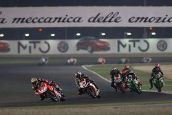 Chaz Davies, Ducati Team, Leon Haslam, Aprilia Racing Team, Tom Sykes, Kawasaki, Jonathan Rea, Kawasaki et Jordi Torres, Aprilia Racing Team