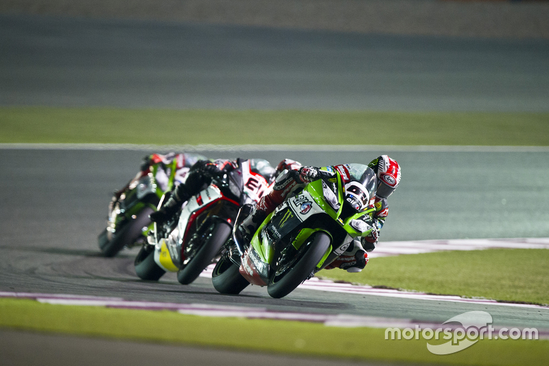 Jonathan Rea, Kawasaki and Jordi Torres, Aprilia Racing Team