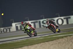 Tom Sykes, Kawasaki and Jordi Torres, Aprilia Racing Team
