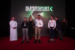 Top 3 Supersport: P.J. Jacobsen, Kawasaki, şampiyon Kenan Sofuoglu, Puccetti Racing Kawasaki, Lorenz