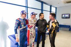 Ganador Oliver Rowland, Fortec Motorsports, el segundo lugar Egor Orudzhev, Arden Motorsport, y el t