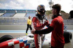 Ganador de la pole Oliver Rowland, Fortec Motorsports