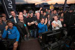 Andreas Mikkelsen, Sébastien Ogier, Jari-Matti Latvala, Volkswagen Motorsport spelen op de WRC simul
