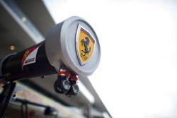 Ferrari pit equipment and logo