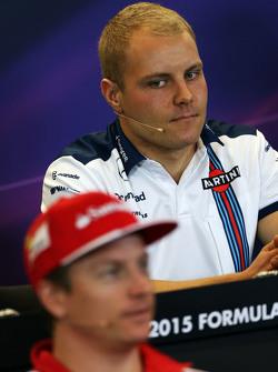 Valtteri Bottas, Williams and Kimi Raikkonen, Ferrari in the FIA Press Conference