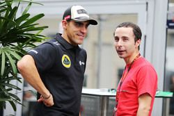 Pastor Maldonado, Lotus F1 Team con Nicolas Todt, Manager de pilotos