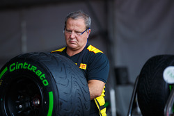 Pirelli tyre engineer