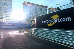 Señalización de Motorsport.com en el circuito de ePrix de Beijing