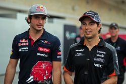 Carlos Sainz Jr., Scuderia Toro Rosso avec Sergio Perez, Sahara Force India F1