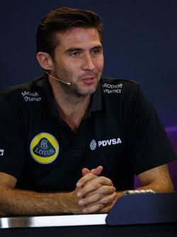 Matthew Carter, Lotus F1 Team, Geschäftsführer, in der FIA-PK