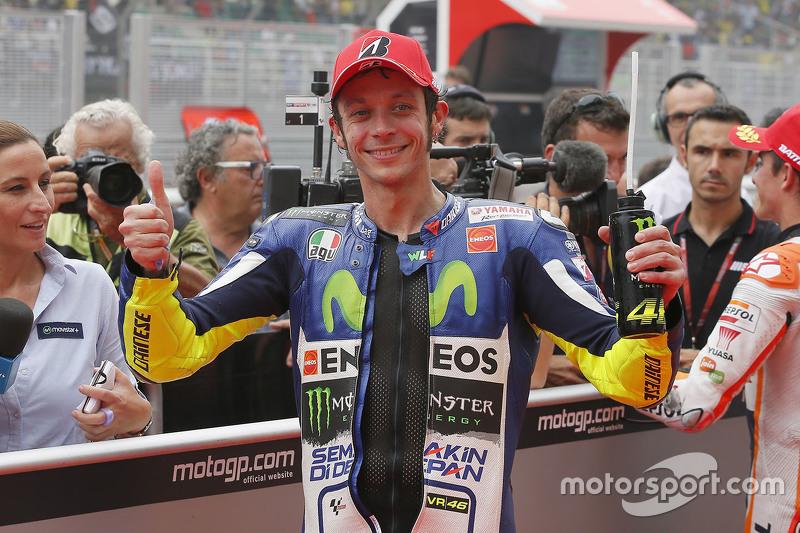 El tercer puesto Valentino Rossi, Movistar Yamaha MotoGP