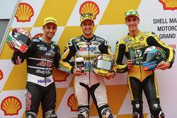 Qualifying: 2. Johann Zarco, Ajo Motorsport; 1. Thomas Lüthi, Derendinger Racing Interwetten; 3. Ale