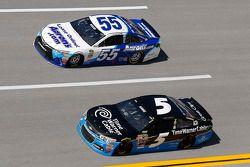 Kasey Kahne, Hendrick Motorsports Chevrolet en David Ragan, Michael Waltrip Racing Toyota