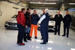 Charlie Whiting, FIA Delegate and Alan Van Der Merwe, FIA Medical Car Driver with circuit officials
