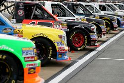 Trucks wait on the grid